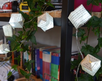 Harry Potter Book Page Origami Fairy Lights