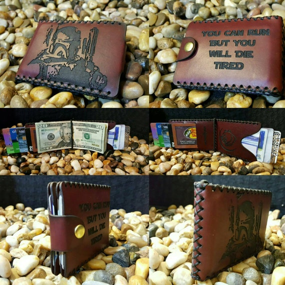 Bounty Hunter Bifold wallet made from Premium English Bridle leather.