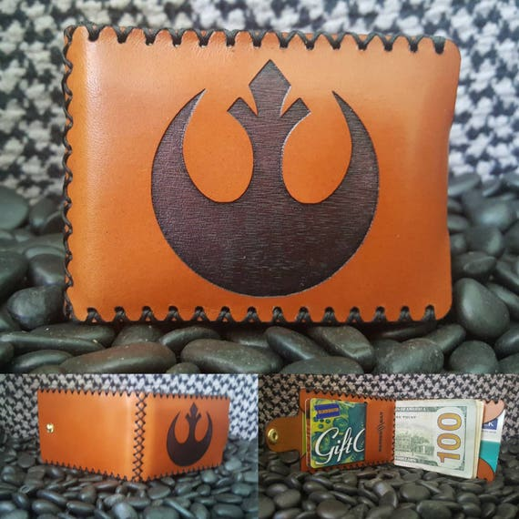 Rebel Alliance Bifold wallet made from Premium English Bridle leather.