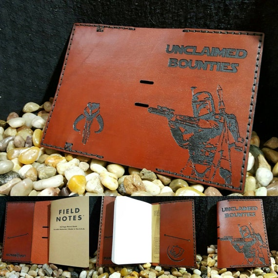 Bounty Hunter Leather Fields Notes/Passport wallet made from Premium English Bridle leather