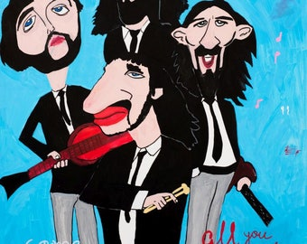 Art Print-The Beatles hommage by Lo Hamburg