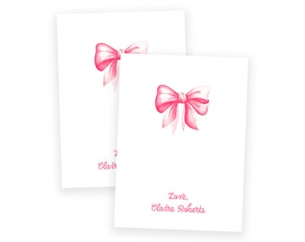 Kate spade cards etsy pink bow gift enclosure cards personalized enclosure card mini notecards gift enclosures for girls kate spade party birthday tags gift m4hsunfo