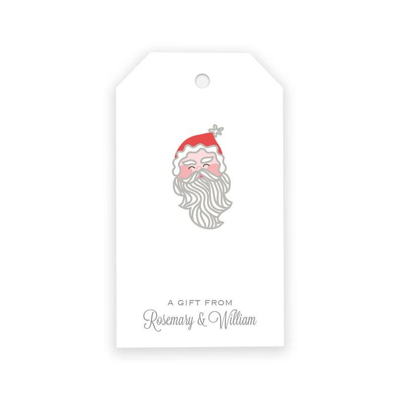 e6e73c75e Personalized Santa Christmas Gift Tags Gift Tags Custom