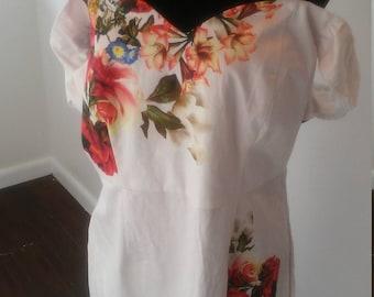 On Sale Floral bardot off shoulder midi dress