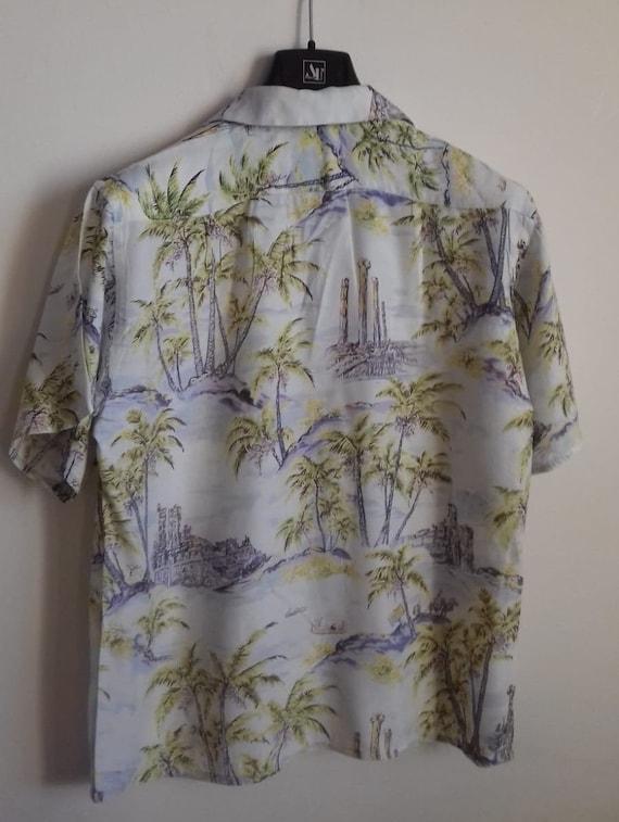 50s Hawaiian Shirt / Rayon vintage shirt / label … - image 10