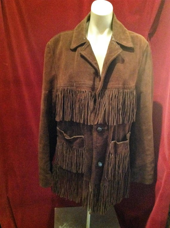 1950s Fringe Jacket Suede - Leather / Western Frin
