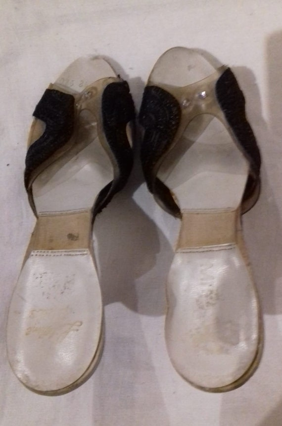 1940s / 50s Lucite shoes / 50s Craved heel / 1940… - image 3