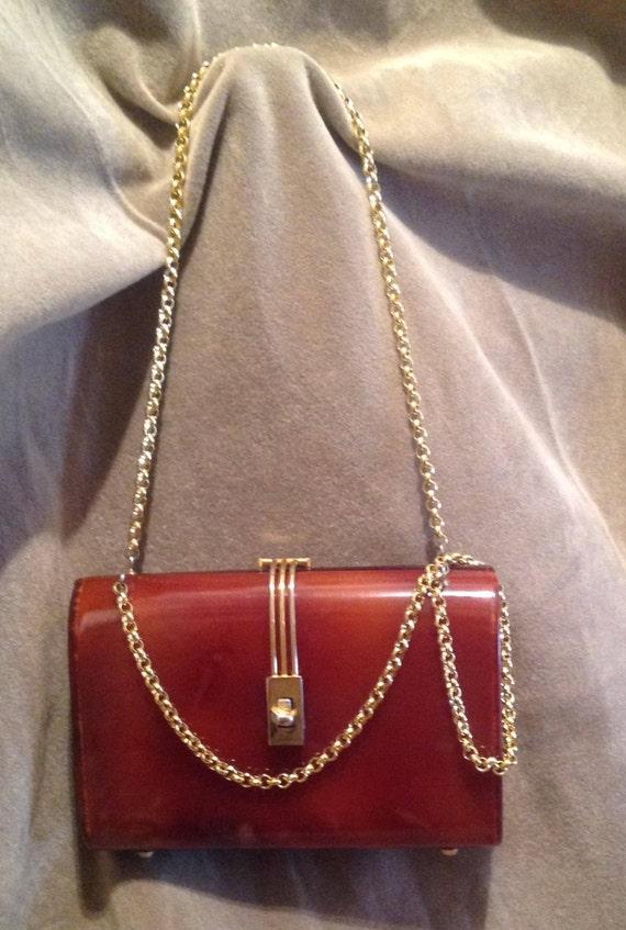 1940s / 50s Vintage Lucite Ladies Handbag / Purse - image 10