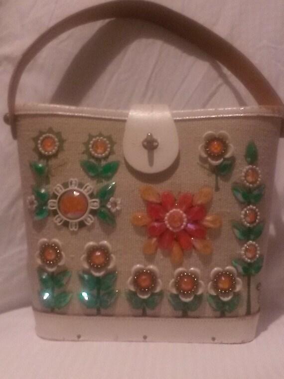 1950s Enid Collins Vintage Bucket Bag. / 50s Vinta