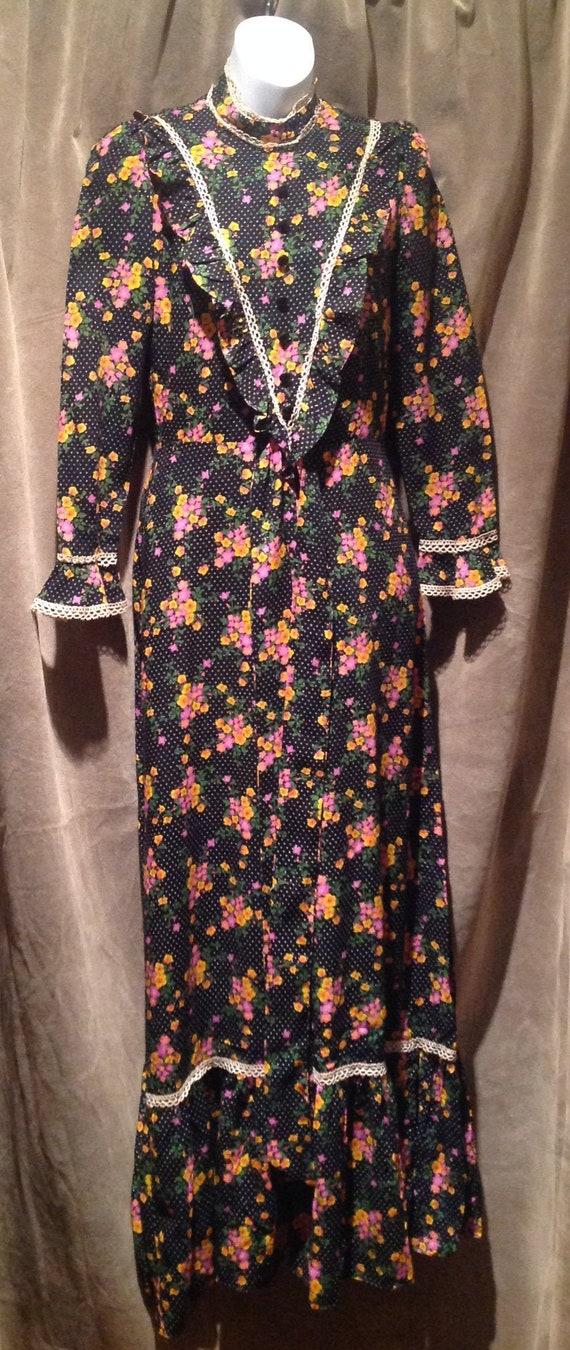 1970s Vintage Maxi Dress / 1970s Vintage Prairie D