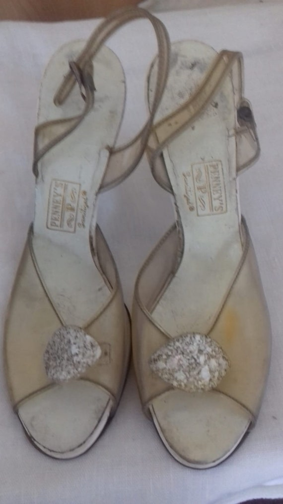 1950s Lucite shoes / make - PENNY'S / 50s Perspex,