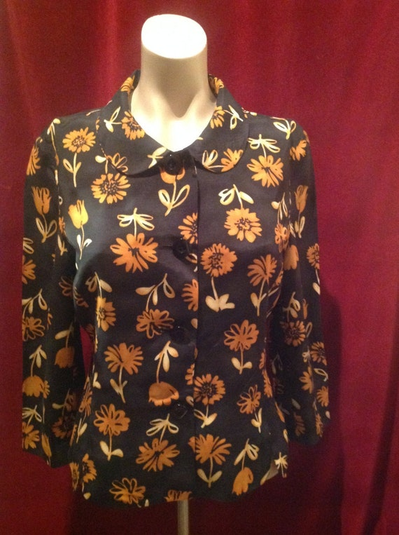 1950s Ladies Jacket Blouse / 50s Blouse