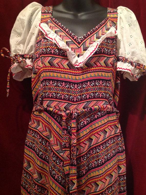 1970s  Vintage  Maxi Dress / 1970s Vintage Peasant