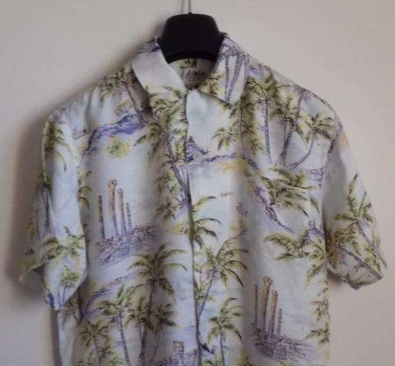 50s Hawaiian Shirt / Rayon vintage shirt / label … - image 1