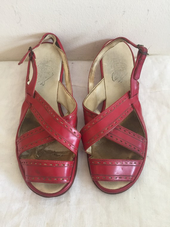 1940s /50s Original Ladies shoes with Fantastic Sa