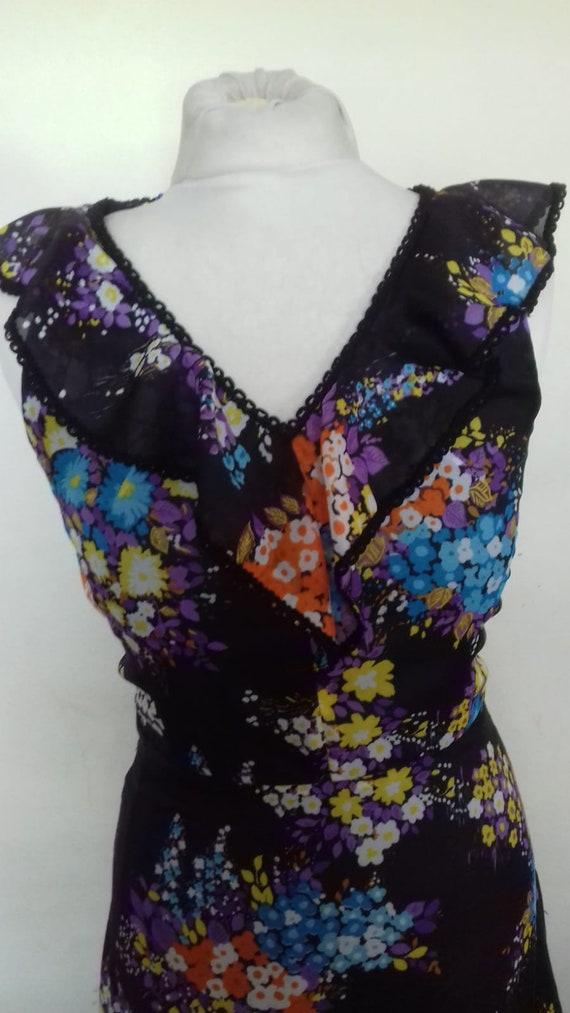 Vintage Maxi dress / ladies Bohemian dress