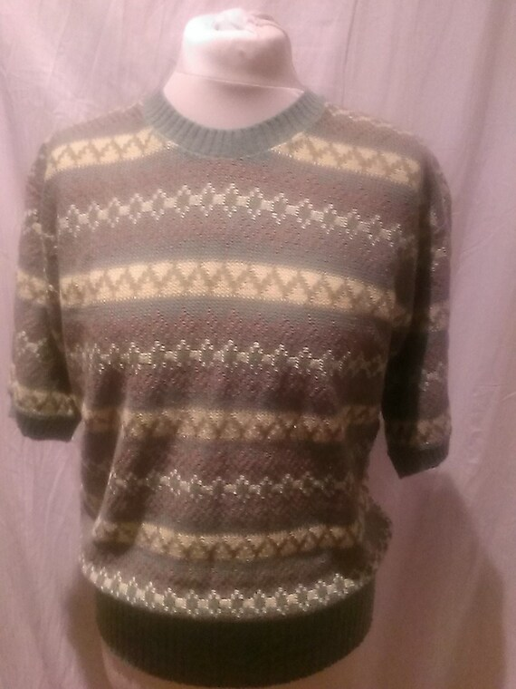 1940s Vintage Cable Knit Sweater Rare /Jumper / Ra