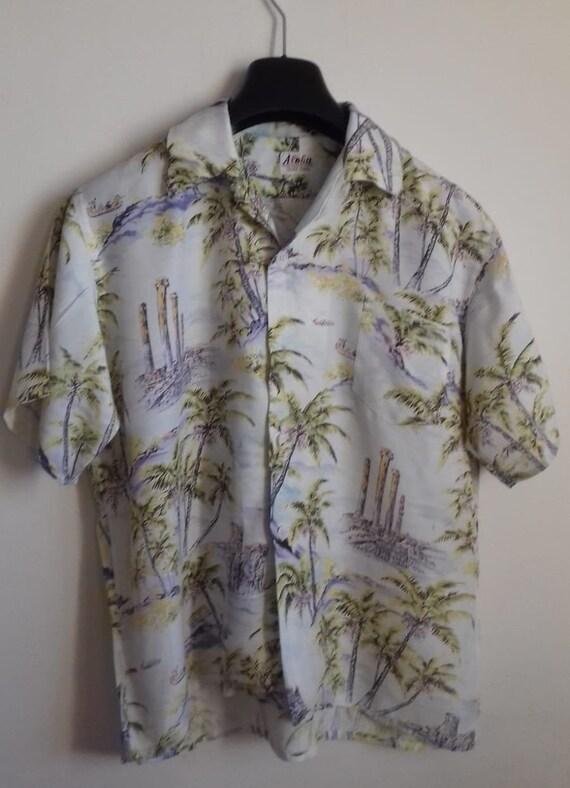 50s Hawaiian Shirt / Rayon vintage shirt / label … - image 3