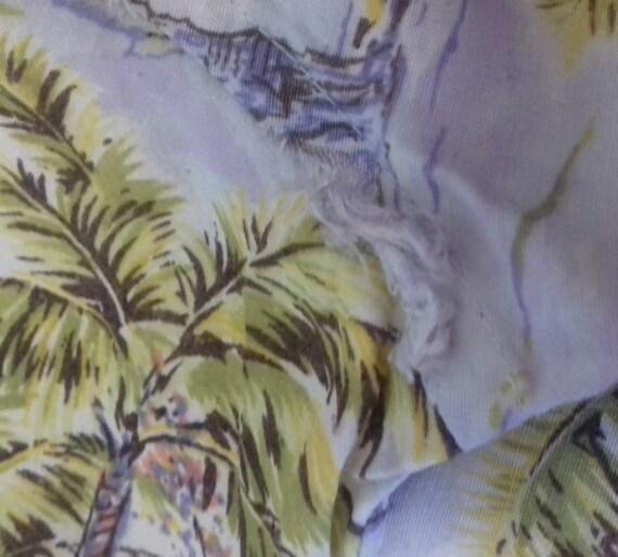 50s Hawaiian Shirt / Rayon vintage shirt / label … - image 9
