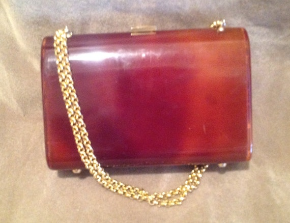 1940s / 50s Vintage Lucite Ladies Handbag / Purse - image 3