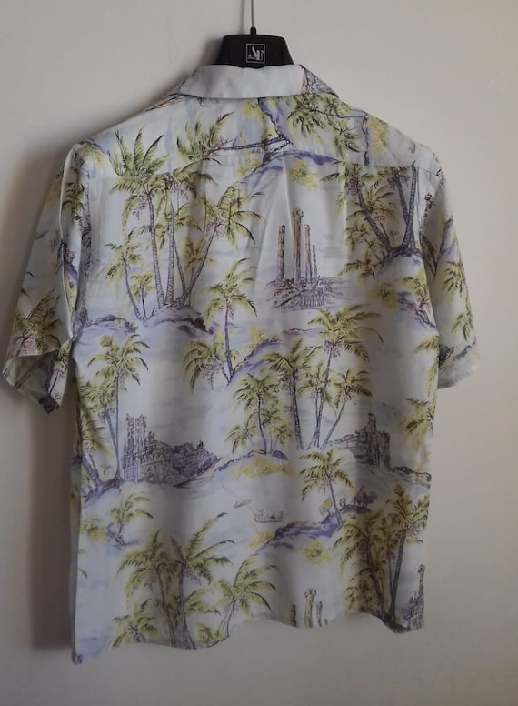 50s Hawaiian Shirt / Rayon vintage shirt / label … - image 2