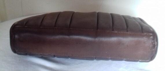 1940s Vintage Lucite Brown Leather handbag /  194… - image 3