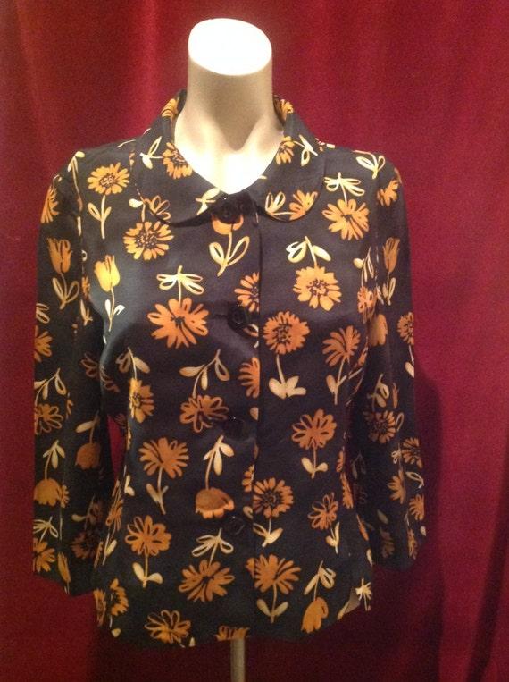 1950s Ladies Jacket Blouse / 50s Blouse - image 3
