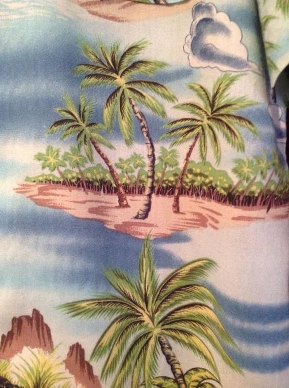 1940s -50s Rayon Hawaiian Shirt // 50s Rayon Hawa… - image 3