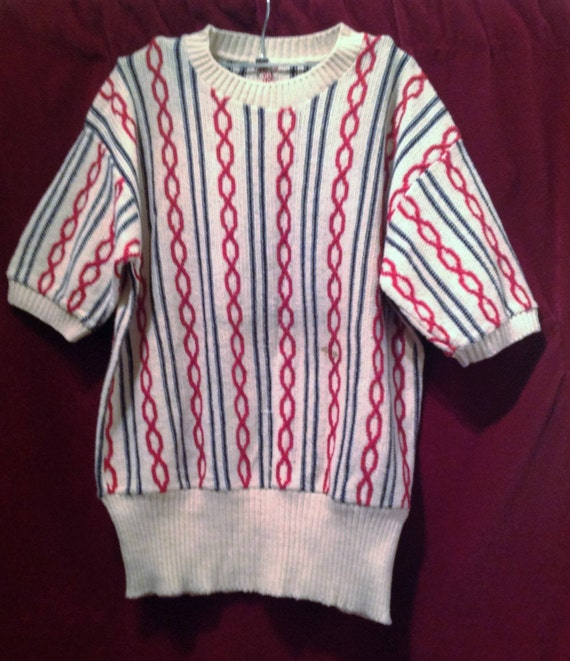 1940s Vintage Unisex Cable Knit Sweater - Jumper