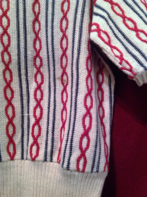 1940s Original Vintage Unisex Cable Knit Sweater … - image 6