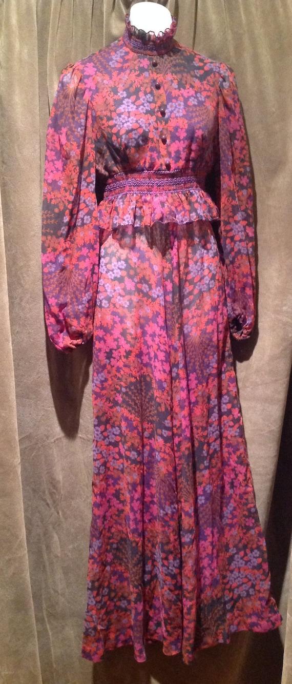 1970 Prairie Dress / 70s Maxi Dress / Festival Dre