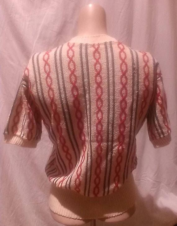 1940s Original Vintage Unisex Cable Knit Sweater … - image 8