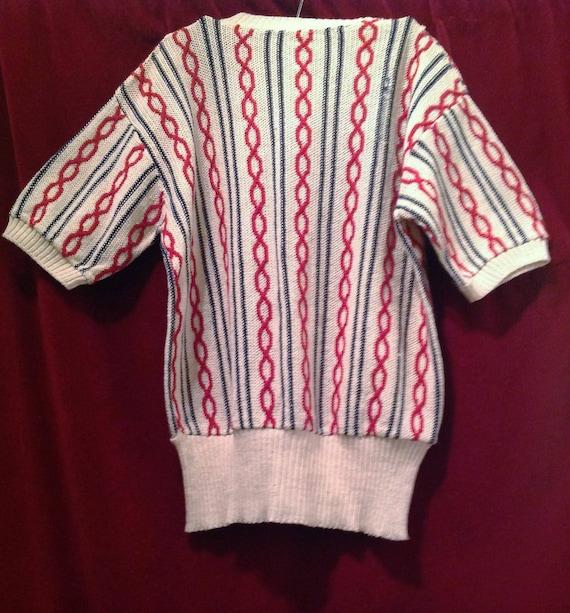 1940s Original Vintage Unisex Cable Knit Sweater … - image 3