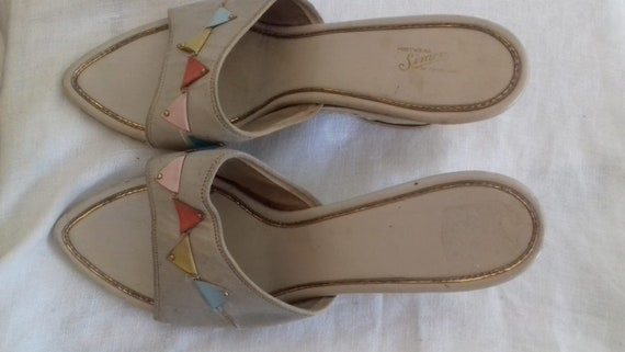 1940s / 50s Mule / Sandals Shoes  - make Footwear