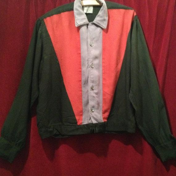 1940s - 50s Rayon Shirt - Jacket / SHIRT JACKET /