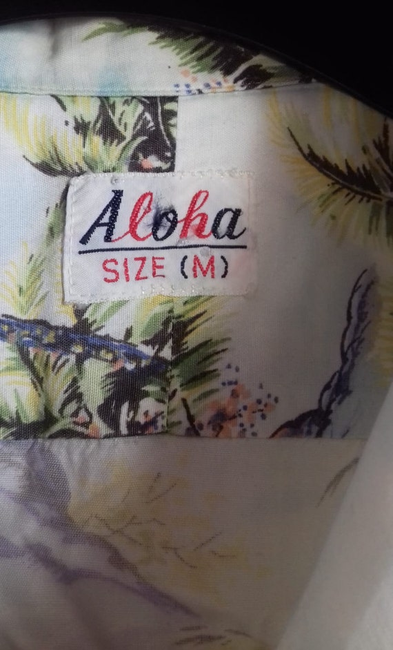 50s Hawaiian Shirt / Rayon vintage shirt / label … - image 4