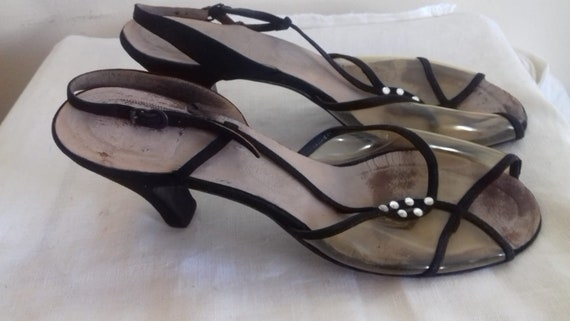 1940s /50s Lucite sling back shoes / 40s/50s Luci… - image 2