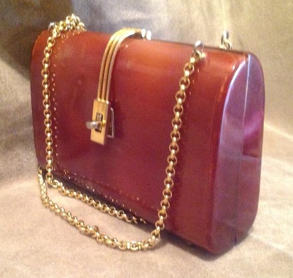 1940s / 50s Vintage Lucite Ladies Handbag / Purse - image 2