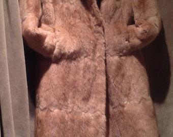 SALE ///  SALE  ///  Vintage Real Fur Coat / Full lenght Real Full Coat  ///  SALE  /// Was = 125.00 ==Now 75,00