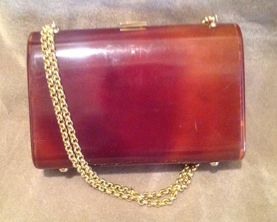 1940s / 50s Vintage Lucite Ladies Handbag / Purse - image 9