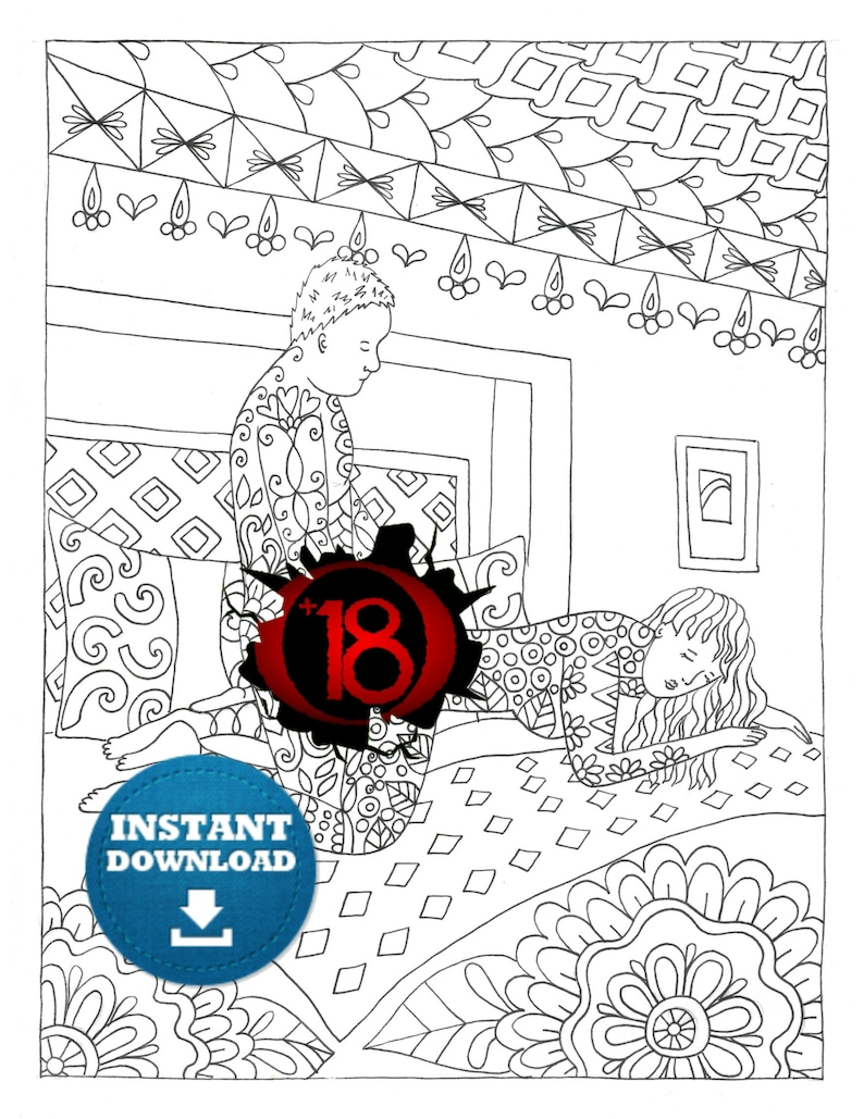 Instant download sex positions coloring page naughty adult etsy