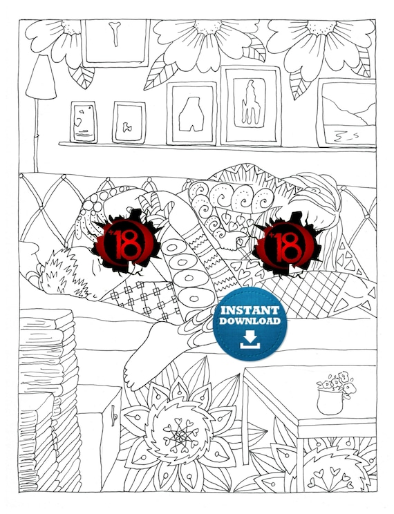 Instant Download Sex Positions Coloring Page Naughty Adult Coloring Book Zentangle Penis Art Printable Cunt Doodle Xrated Colouring Page