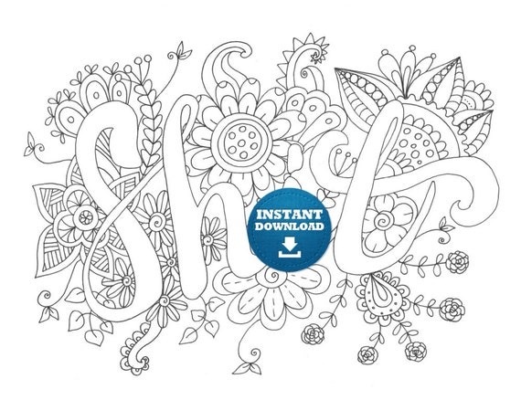 Instant Download Shit Coloring Page Naughty Adult Coloring Etsy