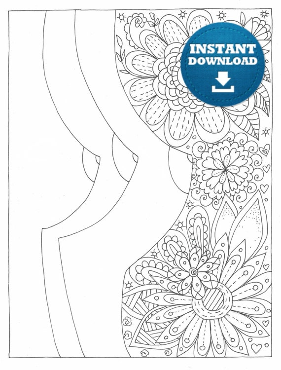 Instant Download Boobs Coloring Page Naughty Adult Coloring Etsy