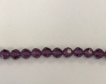 5000 Swarovski® 6mm Round - Amethyst - 12 pieces