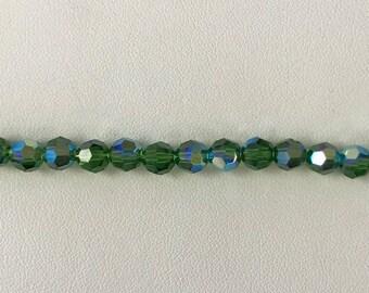 5000 Swarovski® 6mm Round - Fern Green AB - 12 pieces