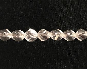 5020 Swarovski® 8mm Helix - Crystal - 10 pieces
