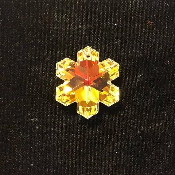 6a31e800fbbd8 6704 Swarovski® 25mm Snowflake Pendant - Crystal AB