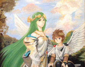 Canvas Print of Pit and Lady Palutena from Kid Icarus