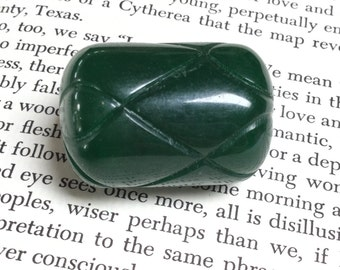 Large Bakelite Barrel Bead in Emerald Green - 1 Piece - #717